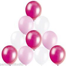 Filles Ballons Fête D'Anniversaire Baptême Communion 30 Bébé Rose Blanc Fuchsia