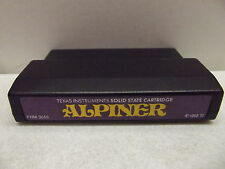 TEXAS INSTRUMENTS TI-99/4A COMPUTER GAME CARTRIDGE ALPINER TESTED