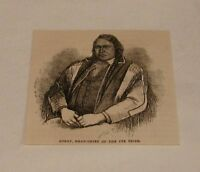 1880 magazine engraving ~ OURAY, Ute Tribe Head Chief
