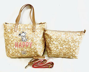 Cath Kidston Snoopy Bag Yellow Happy Handbag Peanut Crossbody Tote Brampton Pink
