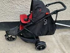 phil & teds double buggy - red and black dot