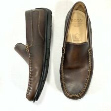 ECCO Men's Driving Moccasin Loafer Brown Leather EU Sz 42 US 8-8.5