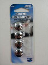 Custom Accessories 93381 Decorative 4pc Chrome License Plate Fastener Bolt Caps