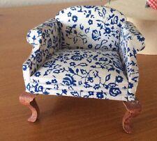 Miniature Lawson Club Chair, Blue Flowers