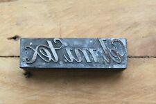Vintage el.mi.tex Printing Block/Letterpress Letterhead Stamp - Watch Straps