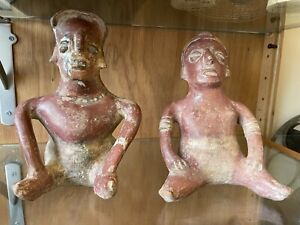 Copies? Pre-Columbian Nayarit Colima West Coast Mexico Red ware Pottery Figures