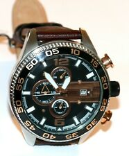 Fossil Men's Chronograph Stainless Steel Brown Leather Quartz CH2559 Watch 10ATM