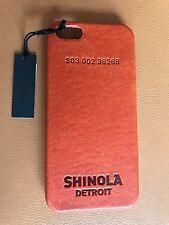 $95 New Shinola Leather iPhone 5 Cognac/Bold Orange Hard Smartphone Ca