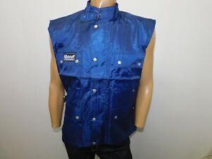 Giubbino smanicato Belstaff uomo taglia XL jacket man veste homme Maglia Blu