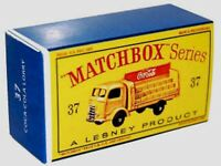 Matchbox Lesney No 37 Coca-Cola Lorry  Repro D style Empty Box