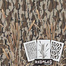 Redleg Camo DG11 - 3 Piece Camouflage stencil kit  **18x26** duck boat wall