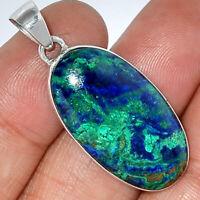 Azurite In Malachite - Morenci Mines 925 Sterling Silver Pendant Jewelry AP46648