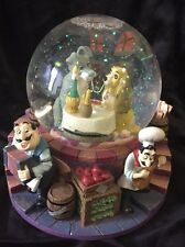 Retired Disney's Lady And The Tramp Snow Globe Musical & Light Up