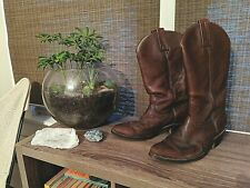Vintage Frye Usa-Made Women's 10 B Western Boots Cowgirl Cowboy Brown