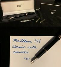 Montblanc 144 Meisterstuck Fountain Pen with Box, Converter and more