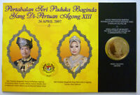 hs Malaysia 45th National Day Coin Card RM1 Nordic Gold 2002