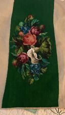 Tapestry Antique French needlepoint Beaded Floral