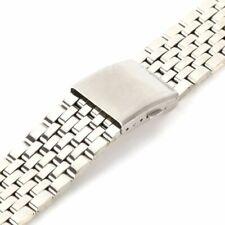 18-22mm Stainless Steel Men Women Metal Watch Band Belt Strap Bracelet Clasp