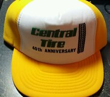 Vintage Central Tire 40th Anniversary Snap Back Ball Trucker Cap NWOT