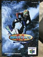 Wave Race 64 Nintendo 64 N64 Instruction Manual Booklet ONLY