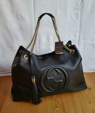 GUCCI Damenhandtasche SOHO schwarz Leder Tasche Italien