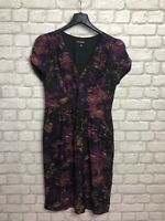 AUTOGRAPH M&S LADIES DRESS SIZE 12 GRAPE PURPLE MIX SILK BLEND PARTY EVENING