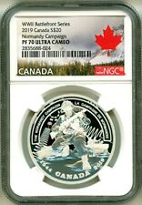 2019 Canada S$20 WWII Battlefront Series Normandy Campaign NGC PF70 UC COA OGP