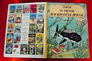 Les Aventures de Tintin le Trésor Rackham le Rouge Casterman daté 1980