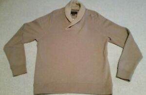 Men's Black Brown 1826 Warm Winter Knitted Button Cowl Neck Sweater Medium