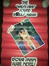 """DOUG SAHM THE WEST SIDE SOUND ROLLS AGAIN POSTER 12"""" X 20"""" COUNTRY VINTAGE"""
