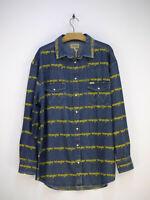 Wrangler Shirt Freizeithemd Hemd Regular Fit Vintage Blau Herren Größe L