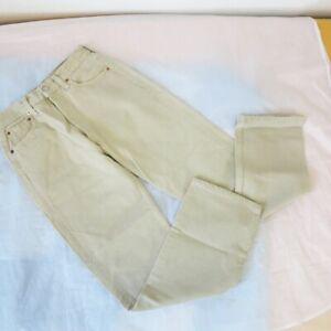 Levis Jeans Beige 501 Herren W29 L30 Straight-Cut-Jeans Herrenhose
