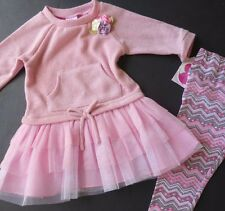 NEW Girls size 24 m Tunic & Legging Set winter lot pink $40 retail NWT 2T girl