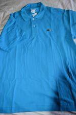$90 NWT LACOSTE Classic Surf BLUE Medium 5 cotton MESH short sleeve POLO shirt