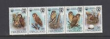 SWAZILAND 1982 FISHING OWL MOUNTED MINT SET OF STAMPS