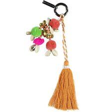 PASSIGATTI Schlüsselanhänger mit Pompom und Muscheln, Aprikose