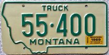 GENUINE 1969 Montana American Truck USA License Licence Number Plate Tag 55-400