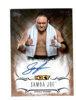 WWE Samoa Joe 2016 Topps Undisputed Bronze On Card Autograph SN 78 of 99