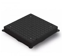 POLYPIPE 110mm MANHOLE INSPECTION SQUARE PLASTIC COVER & FRAME 320mm UG502 NEW