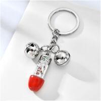 Silver Venezia Keychain Funny Pattern Key Chain Keyring with bell Car Key Fob