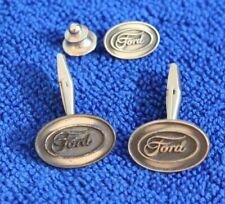 Ford Oval Cuff Links Hat Lapel Pin Accessory F100 F150 Ranger F250 Badge Truck