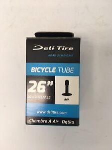 """Deli 26"""" x 2.125-2.35"""" Schrader Valve MTB Bike Tube"""