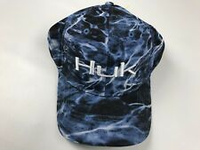 61bcc4497a1c97 Huk Men's Elements Stretch Fit Hat Size L/XL Blue White Logo Fishing Cap New