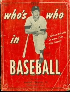 1957 Who's Who in Baseball: Mickey Mantle on Cover