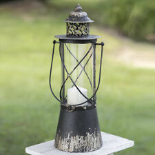 POINT LOMA new distressed tin Candle Lantern