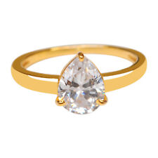 Ring In 14Kt Solid Yellow Gold 2.30 Carat Pear Shape With Solitaire Engagement