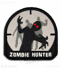 ZOMBIE HUNTER Tactical Outbreak ARMY RESPONSE Morale Iron-On Embroidered Patch