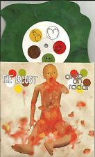 THE LOCUST & ARAB ON RADAR Unreleased LIMITED GREEN Swirl SHAPED 7 INCH Vinyl