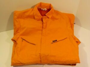 J Dickies Men's Bright Orange Jump Suit Coverall Padded insulated Size 107L
