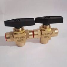3 way brass ball valve 1/4